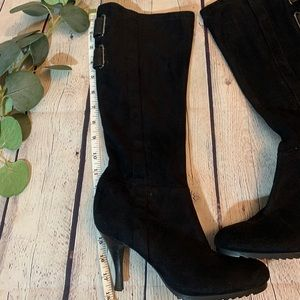 BCBG Shoes - Like new BCBG Black suede boots